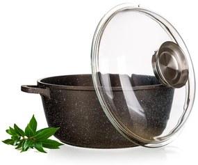 Banquet Kastról s nepriľnavým povrchom Premium Dark Brown xl s pokrievkou 24x10,5 cm