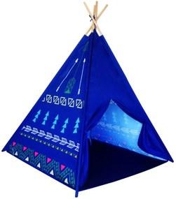 Detský stan teepee - modrý