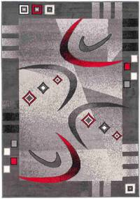 *Kusový koberec PP Bumerang šedý, Velikosti 60x100cm