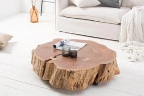 Dizajnový konferenčný stolík Island 80 cm prírodný