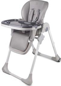 KINDERKRAFT Detská jedálenská stolička Fini Yummy – Grey