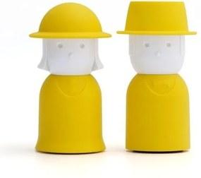 Žltá soľnička a korenička Qualy Mr.Pepper & Mrs. Salt