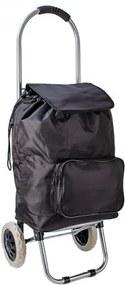 """Čierna nákupná taška na kolieskach """"Classic"""""""