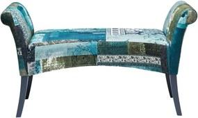 Modrá čalúnená lavica Kare Design Motley