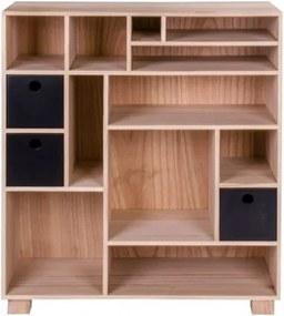 Dřevěná knihovna přírodní  House Nordic LIVORNO B House Nordic 3704940082