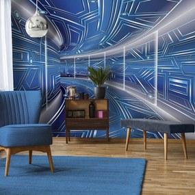 Fototapeta - Modrá chodba (254x184 cm), 10 ďalších rozmerov