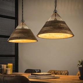 Luster 82-64 2 x Ø40cm Wooden mango shade-Komfort-nábytok