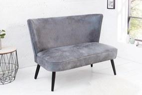 Dizajnová lavica Roberta 115 cm sivá