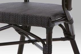 Záhradná stolička AZC-110 BK hnedá / čierna Autronic