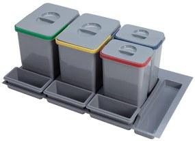 Odpadkový kôš Sinks PRACTIKO 900 2x12l + 2x5l + 3x miska