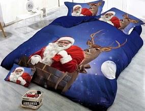 HoD Obliečky 3D Santa a Jeleň Mikrovlákno 70×90 140x200 cm