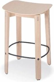 Prírodná nízká barová stolička z dubového dreva Gazzda Nora