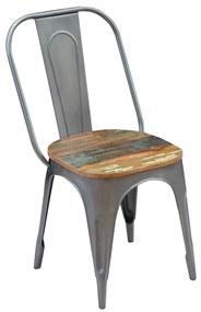Jedálenské stoličky, 4 ks, masívne recyklované drevo, 47x52x89 cm (2x243724)