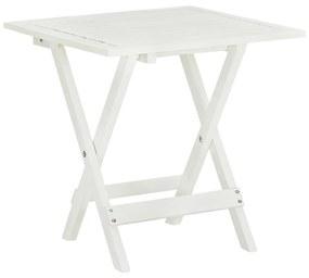 vidaXL Bistro stolík, biely 46x46x47 cm, akáciový masív