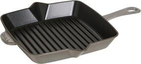 Americká grilovacia panvica Staub štvorcová grafitovo šedá 30 cm