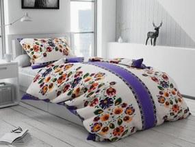 Bavlnené obliečky Zoey fialové