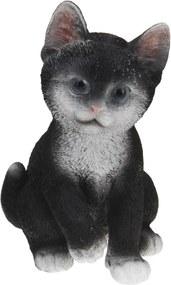 Koopman Záhradná dekorácia Mačka, čierna