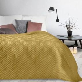 Horčicový prehoz na posteľ ALARA1 220x240 cm