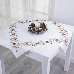 Stredový obrus s vianočnou výšivkou 85 x 85 cm