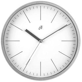 AURIOL® Nástenné hodiny so skleneným krytom (strieborná / biela), strieborná / biela (100301154)