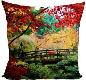Vankúš Jesenný park (Veľkosť: 40 x 40 cm)