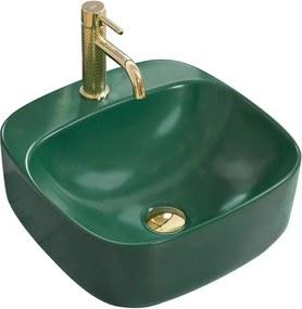 REA Luiza umývadlo, 43 x 43 cm, zelená matná, REA-U4561