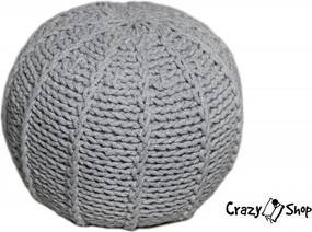 CrazyShop pletený PUF MELON, šedá