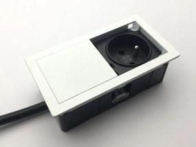 VersaLogic VersaHIT Mono 1x 230V elektrická zásuvka biela RAL9003 Typ zásuvky: schuko