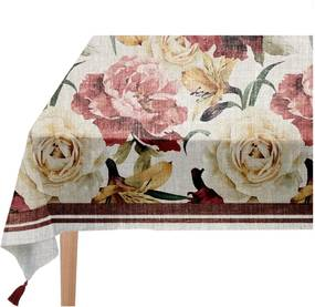 Obrus Linen Couture Roses, 140 x 140 cm
