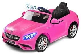 TOYZ Toyz Mercedes Elektrické autíčko Toyz Mercedes-Benz S63 AMG-2 motory pink Ružová |