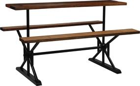vidaXL Barový stôl s lavicami z recyklovaného dreva 180x50x107 cm