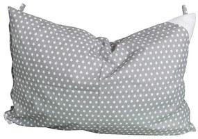 Eva Kiedroňová Obliečka na vankúš sivá s hviezdičkami - 60x40 cm, 100% bavlna, 60x40 cm, Sivá