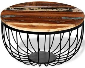 Konferenčný stolík z masívneho regenerovaného dreva