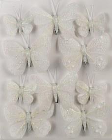 Sada vianočných ozdôb Motýliky, 10 ks