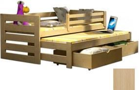 FA Detská posteľ s prístelkou Veronika 7 90x200 Farba: Prírodná