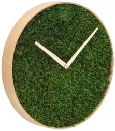 FOREST machové nástenné hodiny 45 cm Čierne