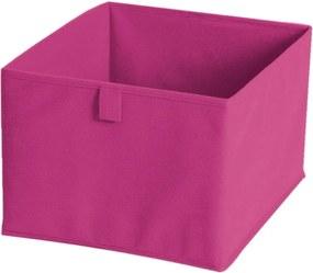 Ružový textilný úložný box JOCCA, 30 × 30 cm