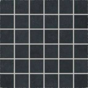 Mozaika Rako Trend čierna 30x30 cm, mat, rektifikovaná DDM06685.1