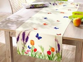 Behúň na stôl Kvetinová lúka, 140 x 40 cm