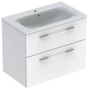 Kúpeľňová skrinka s umývadlom Geberit Selnova 80x50,2x65,2 cm biela lesk 501.240.00.1