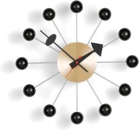 Vitra Hodiny Ball Clock, black/brass