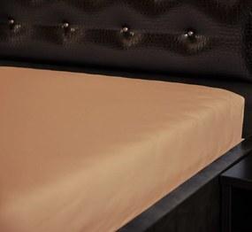 Jersey napínacia plachta Béžová 15 Rozmer: 60 x 120 cm