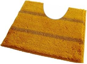 ROUTNER Kúpeľňová predložka IRSINA Žltá 10509 - Žltá / 60 x 60 cm WC s výkrojom 10509