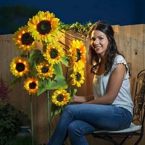 Solárny záhradný zápich Slnečnice, 3 kusy