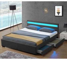 - Čalúnená posteľ Lyon 180 x 200 cm - tmavošedá