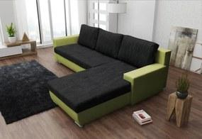 Expedo Rohová rozkladacia sedačka ALEXIE L, 255x183, Kornet 10/ Neo 17 zelený, pravá