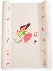 Petite&Mars Podložka prebaľovacia Paddy - béžová, víla, 70 cm