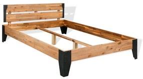 vidaXL Rám postele, masívne akáciové drevo, 140x200 cm