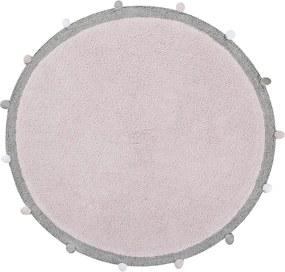 Lorena Canals koberce Ručně tkaný kusový koberec Bubbly Soft Pink - 120x120 (průměr) kruh cm