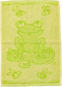 Detský uterák BEBÉ žabička zelený 30x50 cm